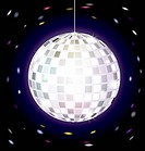 on dark background is big specular disco ball