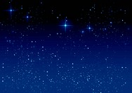 Star on the dark blue background