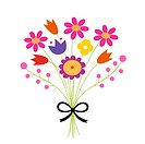 Bouquet of flowers _ vector