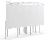 3d blank huge billboard on white background