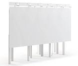 3d blank huge billboard on white background