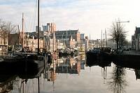 Noorderhaven in the town of Groningen in the Netherlands