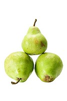 Williams Pears on White Background
