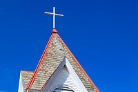 Top of the rural church, Ohio, USA