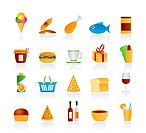 Shop and Foods Icons _ Vector Icon Set