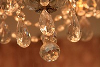 Close up of a big Chandelier.