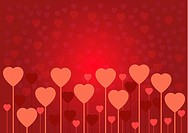 Abstract red Valentine love card or background