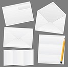 Envelopes and paper, vector eps10 illustration
