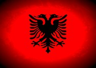 Flag of Albania with dark faded edges