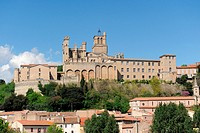 gothic architecture of Beziers cathedral, Languedoc, France