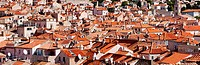 Red roofs of Dubrovnik old town in Croatia