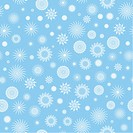 Seamless pattern. White snowflakes on a blue background.