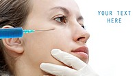 Young women injectin with botox _ cosmetic treathment