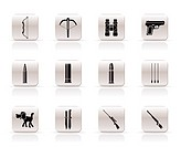 Hunting and arms Icons _ Vector Icon Set