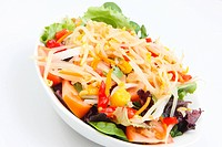 fresh salad with soyabean and vegetables