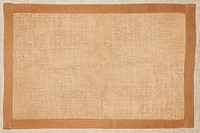 Brown natural textured fabric background with natural frame.