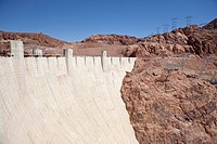 Hoover Dam an engineering landmark, Boulder City, Nevada