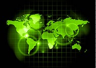 green map of the world _ image contains gradient mesh