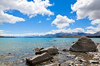 Picture of lake Tekapo on the south island of New Zealand