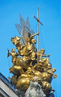 Plague column at Graben, Vienna, Austria