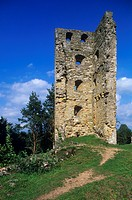 Estonia - Vastseliina - The ruins of the Castle of the Knights of Livoniani, whose construction began in 1342.