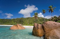 Unspoilt beach at Anse Cocos - La Digue Island - The Seychelles