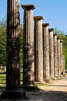 Ancient Olympia  The Palaestra, built in 3rd c  BC, was a square building with an interior court, and it was used for training the wrestlers, boxers a...