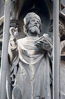 St. Stephen Church in Vienna _ statue of a saint 2