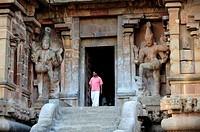 Brihadishvara temple in Tanjore,South India,India,Asia