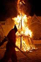 Devils during the San Antoni Festival in Morella, Castellon, Spain