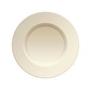 Cream china plate for dinner service clean