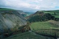 Aerial view of Cambrian Mountains - Wales, United Kingdom