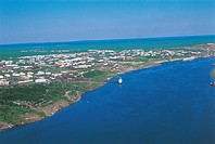 Aerial view of Yenisey River - Surroundings of Igarka, Siberia, Russia