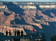 USA, Arizona, Grand Canyon National Park (UNESCO World Heritage List, 1979). Observation platform of Grand Canyon