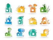 home and house insurance and risk icons _ vector icon set