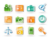 Simple Business and Office internet Icons _ Vector icon Set