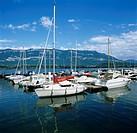 Marina on Lac Du Bourget, Aix les Bains, Rhone Alpes, France, Europe