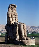 Egypt - Ancient Thebes (UNESCO World Heritage List, 1979). South Colossus of Memnon. Statue of Amenhotep III