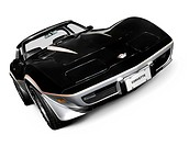 Black 1978 Chevrolet Corvette C3 Coupe sports car
