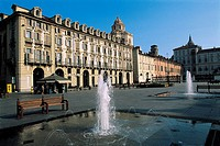 Italy - Piedmont Region - Turin. Savoy royal residence Castello del Valentino on the square Piazza Castello (UNESCO World Heritage Site, 1997)