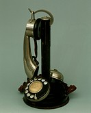 France, 20th century - Micro telephone with receiver, circa 1920.  Private Collection