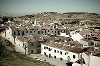 Spain, Madrid, Chinchon, general panoramic view