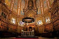 Abbey Basilica of Montserrat, s XVI, Montserrat, Catalonia, Spain