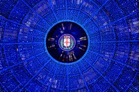 Italy, Lombardy, Milan, Vittorio Emanuele Gallery,Christmas lights ...