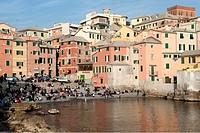 Italy, Liguria, Genoa, Boccadasse ...