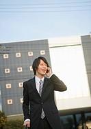 Businessman talking on a smartphone