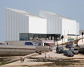 Turner Contemporary Art Gallery, David Chipperfield Architects, Margate, UK, 2011, View sea wall and slipway, DAVID CHIPPERFIELD ARCHITECTS, UNITED KI...