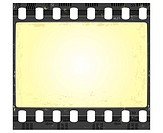 Image of the film frame in grunge style