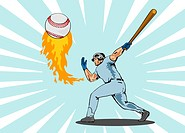 illustration of a baseball player batting