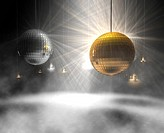 3d rendering of Disco balls